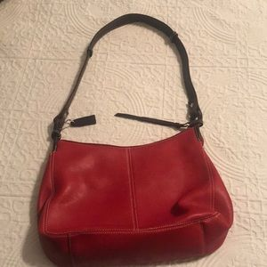 Tignanello red leather hand bag